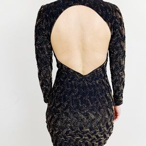 Zara Dresses - Zara Body-con Backless Metallic Dress A321